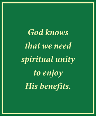 Maintaining Spiritual Unity in Our Fellowships